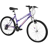 Dynacraft Magna Front Shock Mountain Bike Boys, Girls, Mens and Womens 24 and 26 Inch Wheels with 18 Speed Grip Shifter and D