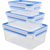 Tefal Masterseal safe food container 3-piece set 0.55 liter, 1.0 liter, 2.3 liter