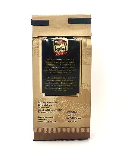Cafe Lealtad Ground Coffee 100% Arabica Coffee Medium Roast 8 Ounce