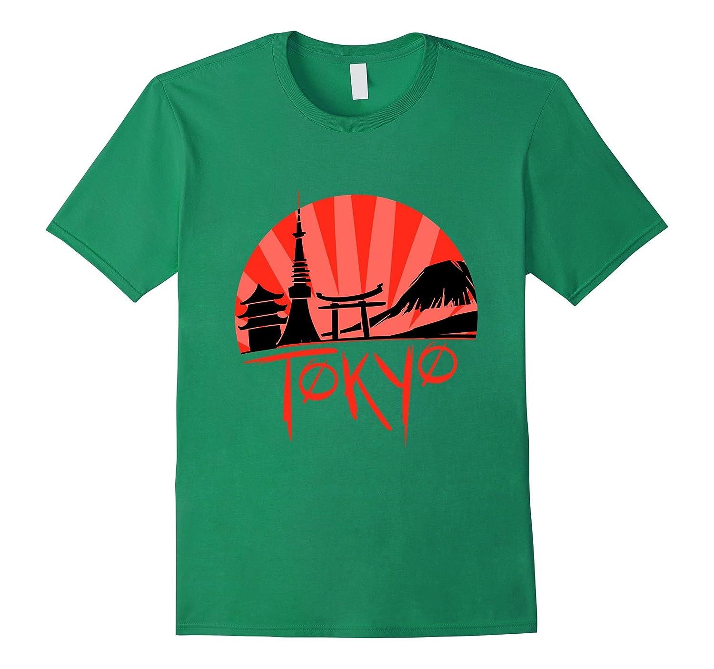 Skyline of Japan Tokyo Japanese Sunset T-shirt-TD