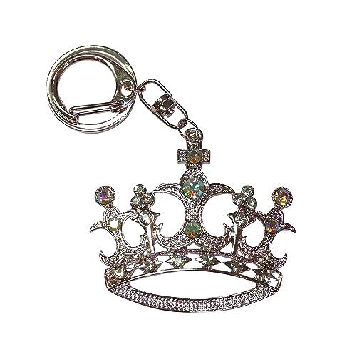 Amazon.com: Gran Corona de 5 puntos colgante llavero: Jewelry