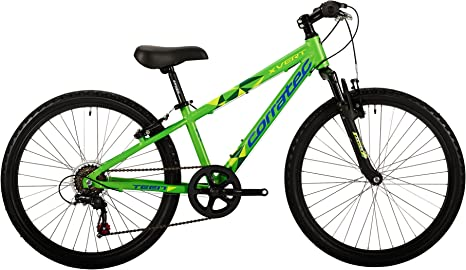 Corratec Niños X Vert Teen Bicicleta, Viper Verde Mate/Amarillo neón/Reflex Azul, One Size: Amazon.es: Deportes y aire libre