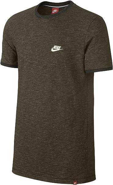 Nike Sportswear Legacy Top Knit T-Shirt Tee Men's Dark Loden 822570-347 (