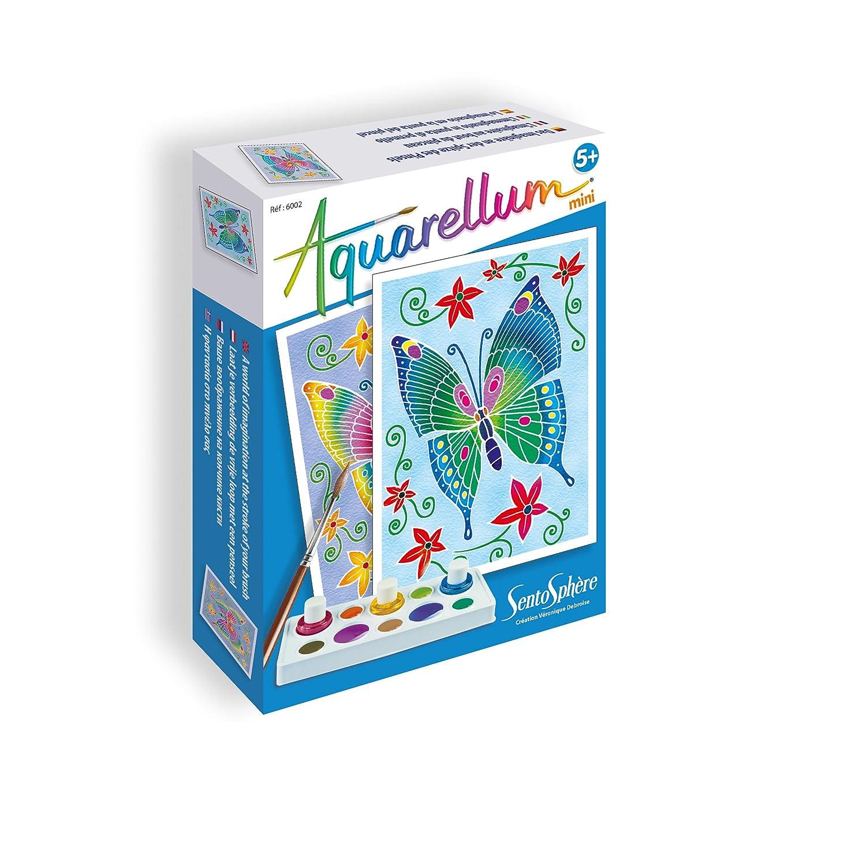 Sentosphère Loisir Créatif Aquarellum Mini Papillons, 6002 Création Véronique Debroise 3906002
