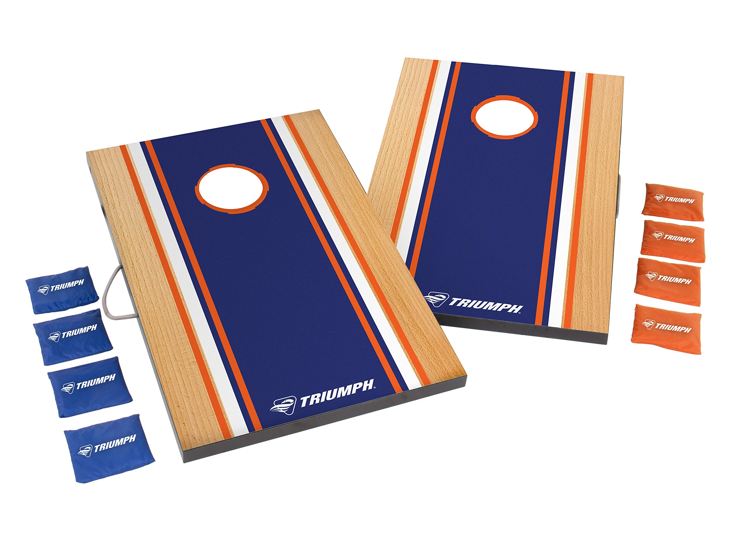 Triumph Competition 2' x 3' Outdoor Bean Bag Toss Set Includes 8 Bean Bags and Interior Storage for Easy Transportation