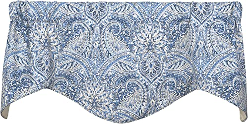Decorative Things Window Treatments Valance Curtains Kitchen Window Valances or Living Room Blue Curtains Paisley Curtains
