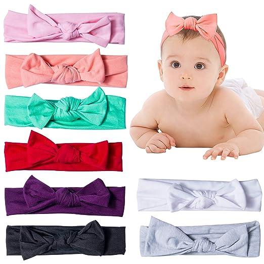 Amazon.com  YSense Baby Girl Cute Turban Headbands Head Wrap Knotted ... 3227e0277f0