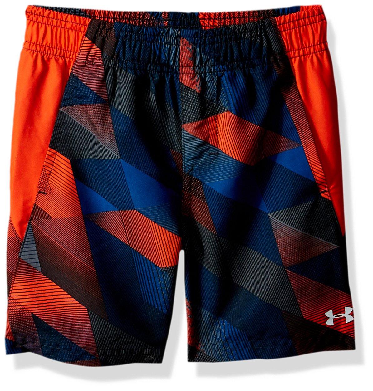 Under Armour Boys' Big Volley Fashion Swim Short, Volcano Orange, Large