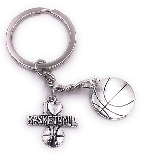 H-Customs Baloncesto Amo el baloncesto Llavero Colgante de ...