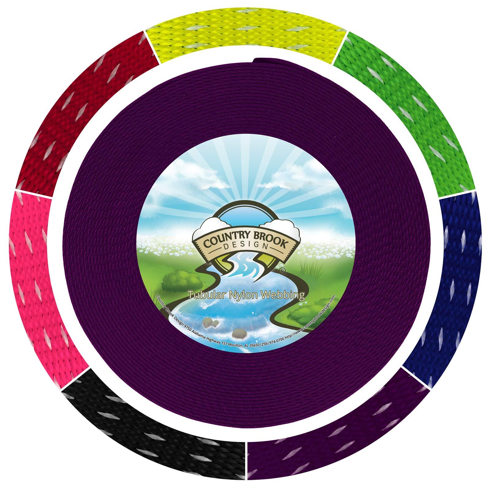 Country Brook Design 1 Inch Purple Climbing Spec Tubular Nylon Webbing, 10 Yards