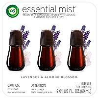 Air Wick Essential Mist, Essential Oil Diffuser Refill, Lavender & Almond Blossom...