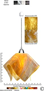 product image for Jezebel Signature JRNI-FP16-HON-TRNI Nickel Flame Track Light, Large, Honeysuckle