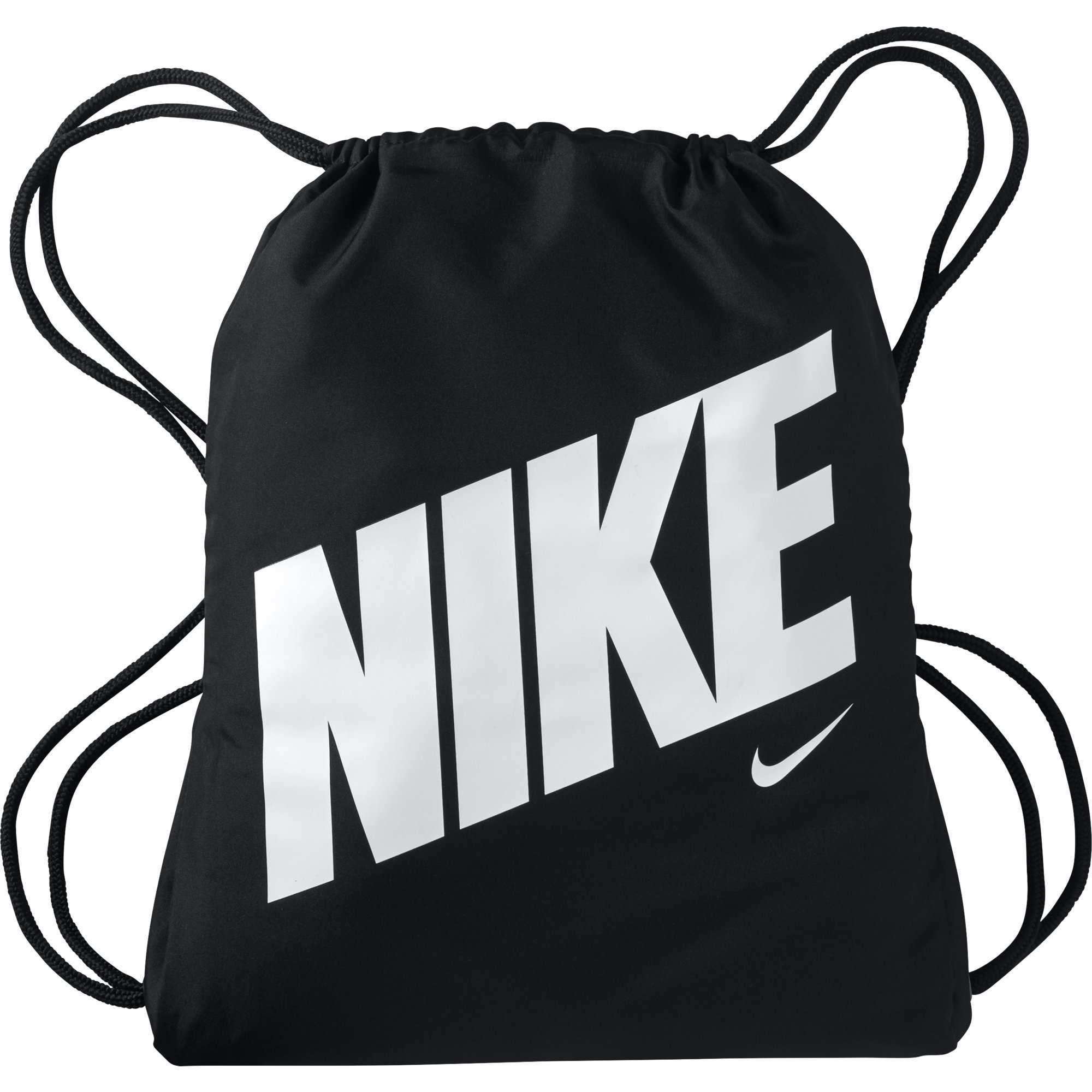 NIKE Kids' Graphic Gym Sack, Black/Black/White, One Size by Nike (Image #1)