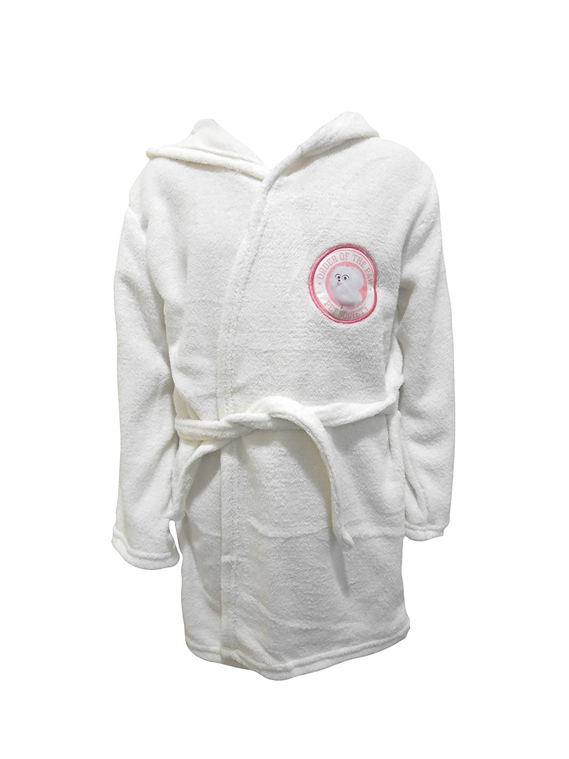 The Secret Life Of Pets Gidget Kids Hooded Fleece Bathrobe Dressing Gown The Cookie Company