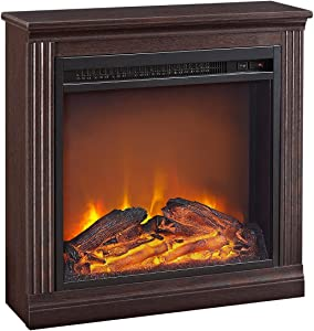 Ameriwood Home Bruxton Electric Fireplace,Cherry