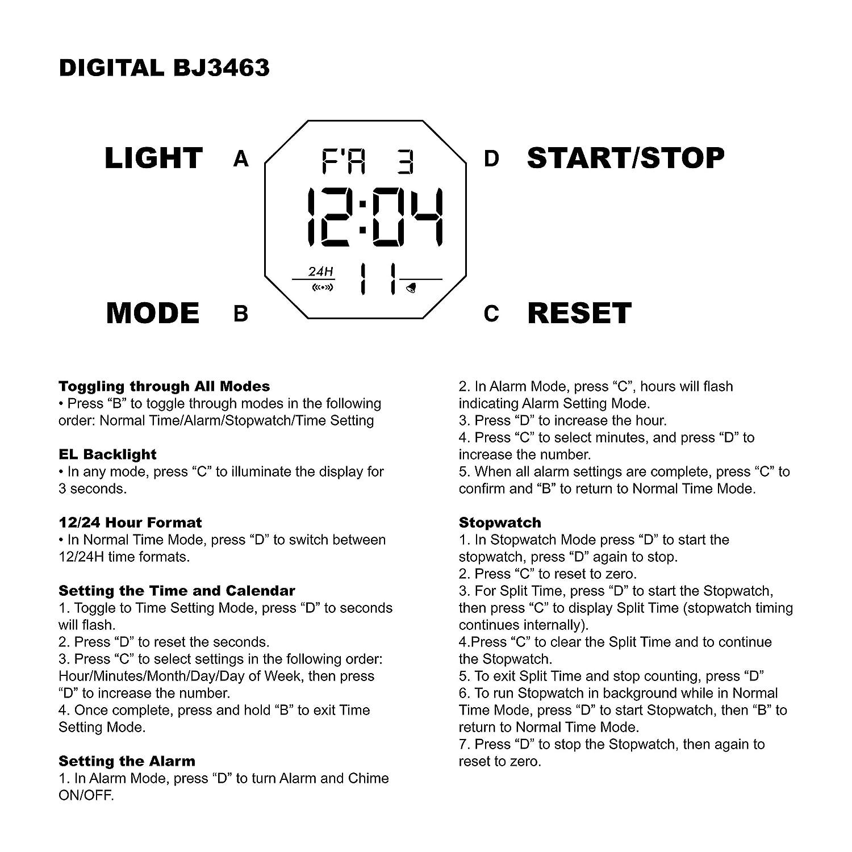 Amazon.com: Skechers Mens Keats Quartz Plastic and Nylon Digital Watch Color: Black, Red (Model: SR1038): Watches