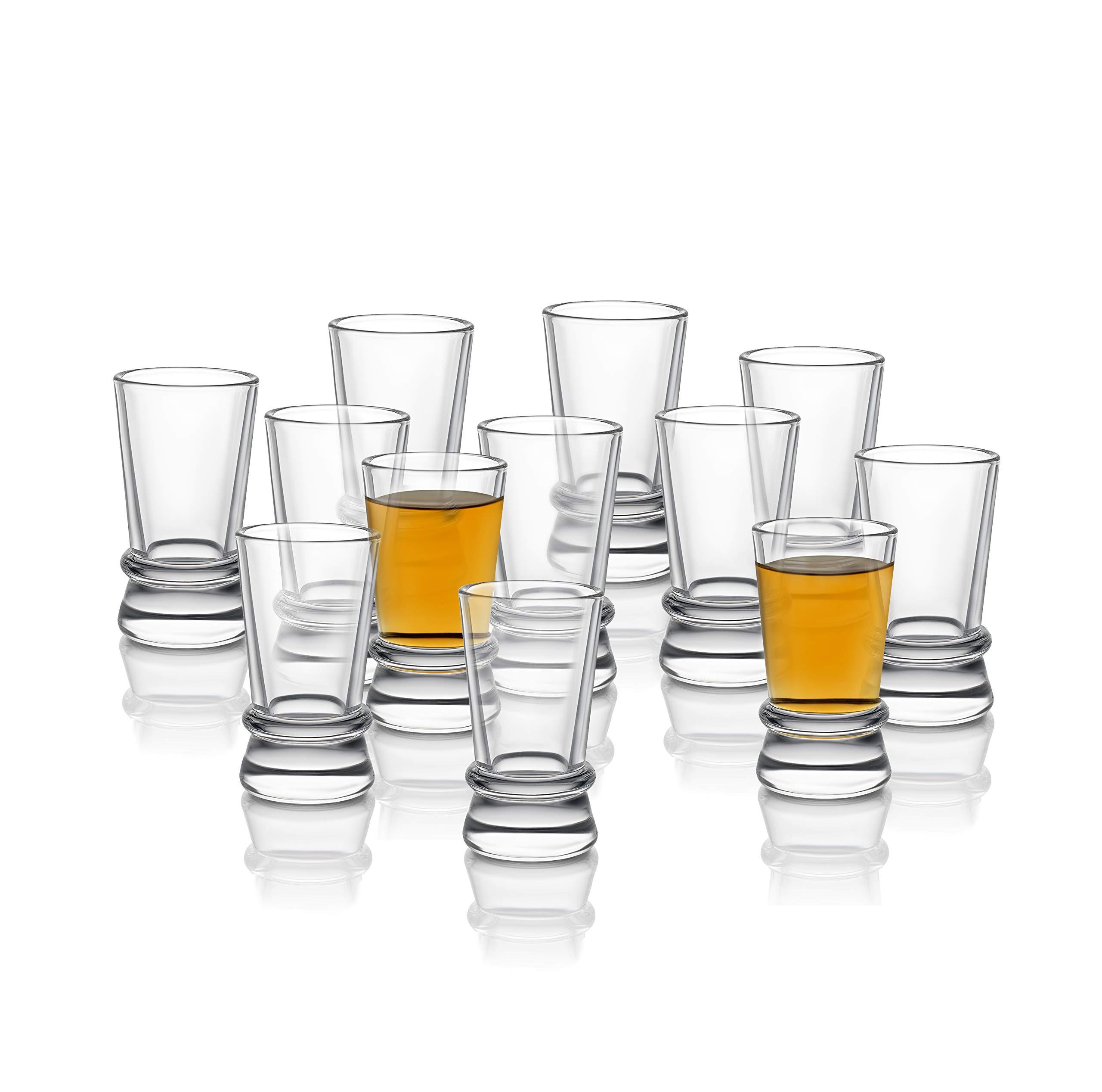 JoyJolt Afina Heavy Base Shot Glasses (Pack of 12) – 1.5-Ounces