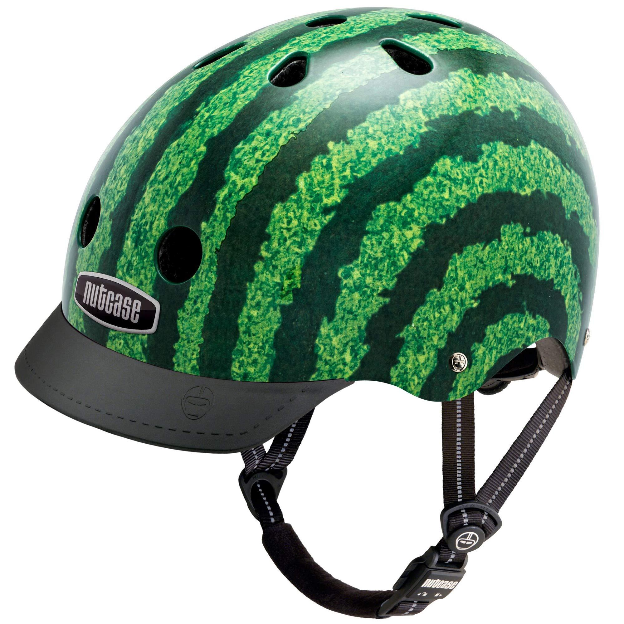 Nutcase - Patterned Street Bike Helmet for Adults, Watermelon, Large