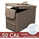 New 50 Cal Metal Ammo Can Military and Army M2A1 All-Metal Box for Long Term Storage by Solid Tactical