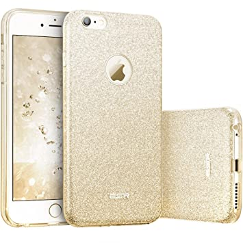 esr Funda iPhone 6S Plus/6 Plus, Funda Case Carcasa Dura Brillante Brillo Purpurina llamativa para Apple iPhone 6S Plus/6 Plus - Oro