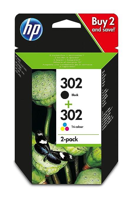 Cartucho de tinta original Hewlett-Packard F6U66AE, HP 302, Ho302 pra HP Officejet 4650, negro, rendimiento: aproximadamente 190 páginas / 5%, color ...