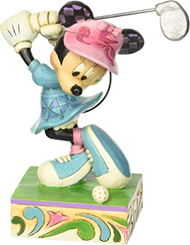 Enesco Disney Traditions by Jim Shore Minnie Mouse Golfing Figurine, 6 in