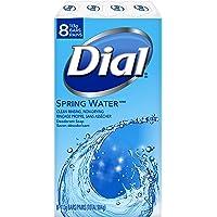 Dial Deodorant Bar Soap, Spring Water, 8 Count, 113 Grams