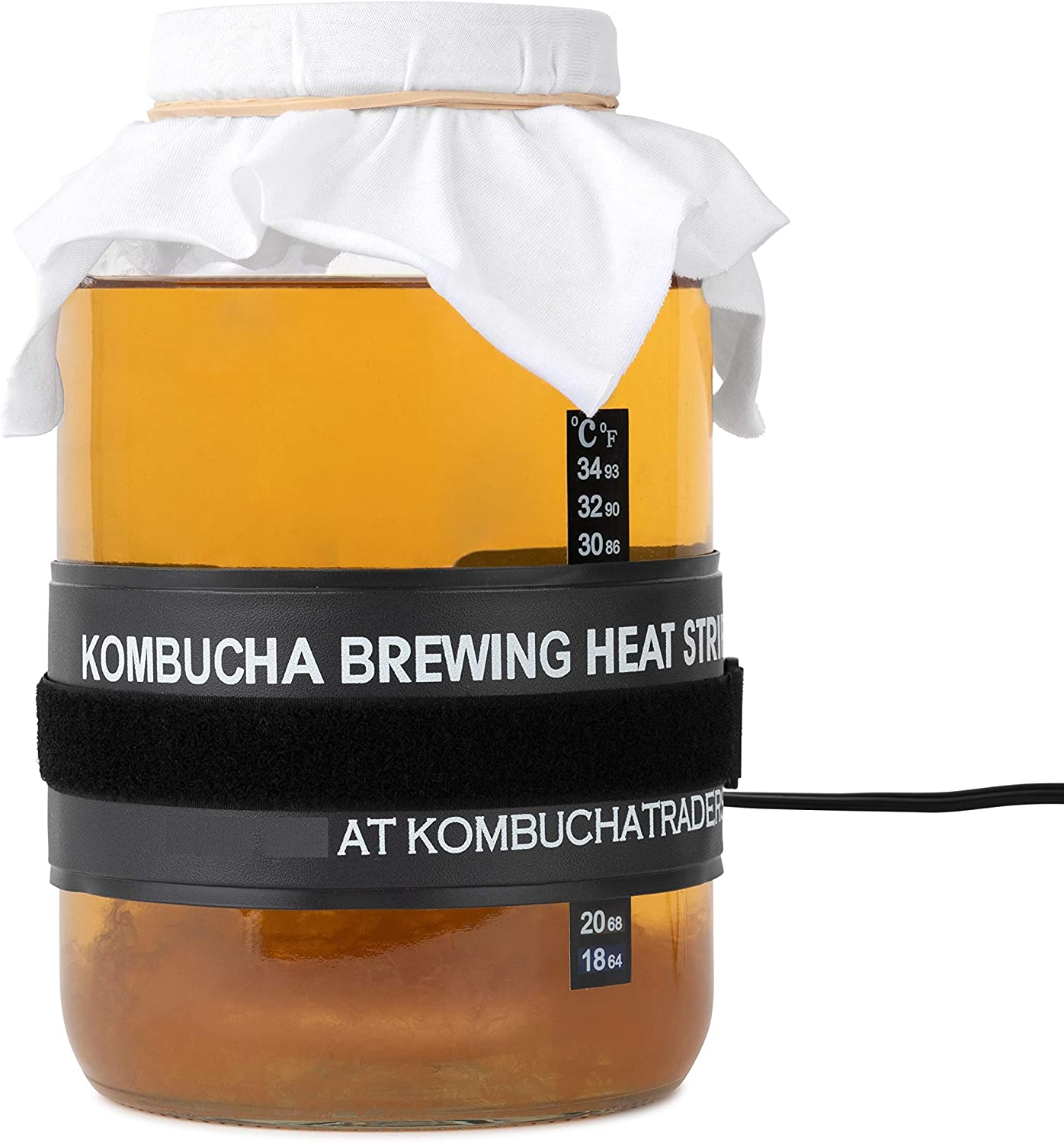 Kombucha Starter Kit (Deluxe with Heating Mat) SCOBY, Jar, PH Test Strips, Fermenting Ingredients and more