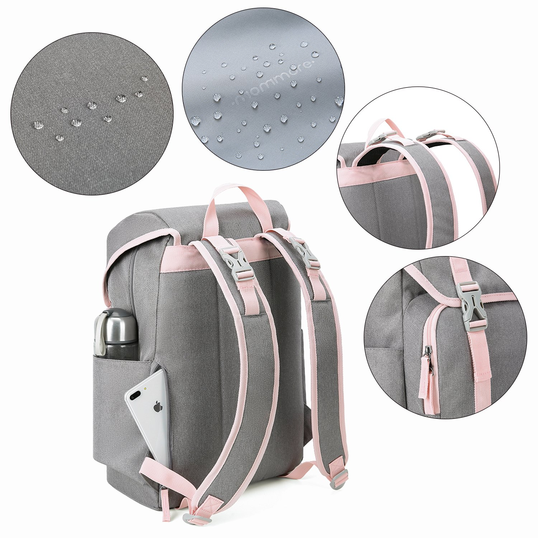 mommore Wickelrucksack Wickeltasche Rucksack Gro/ße Kapazit/ät Babytasche mit Wickelunterlage Pink