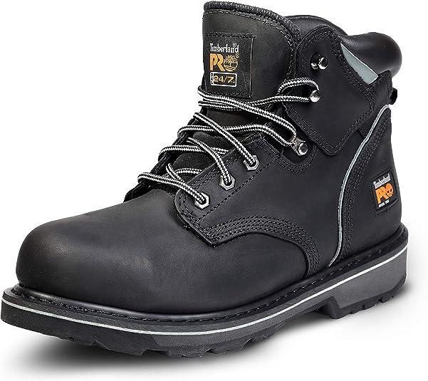 "timberland pro men's 6"" pit boss steel toe"