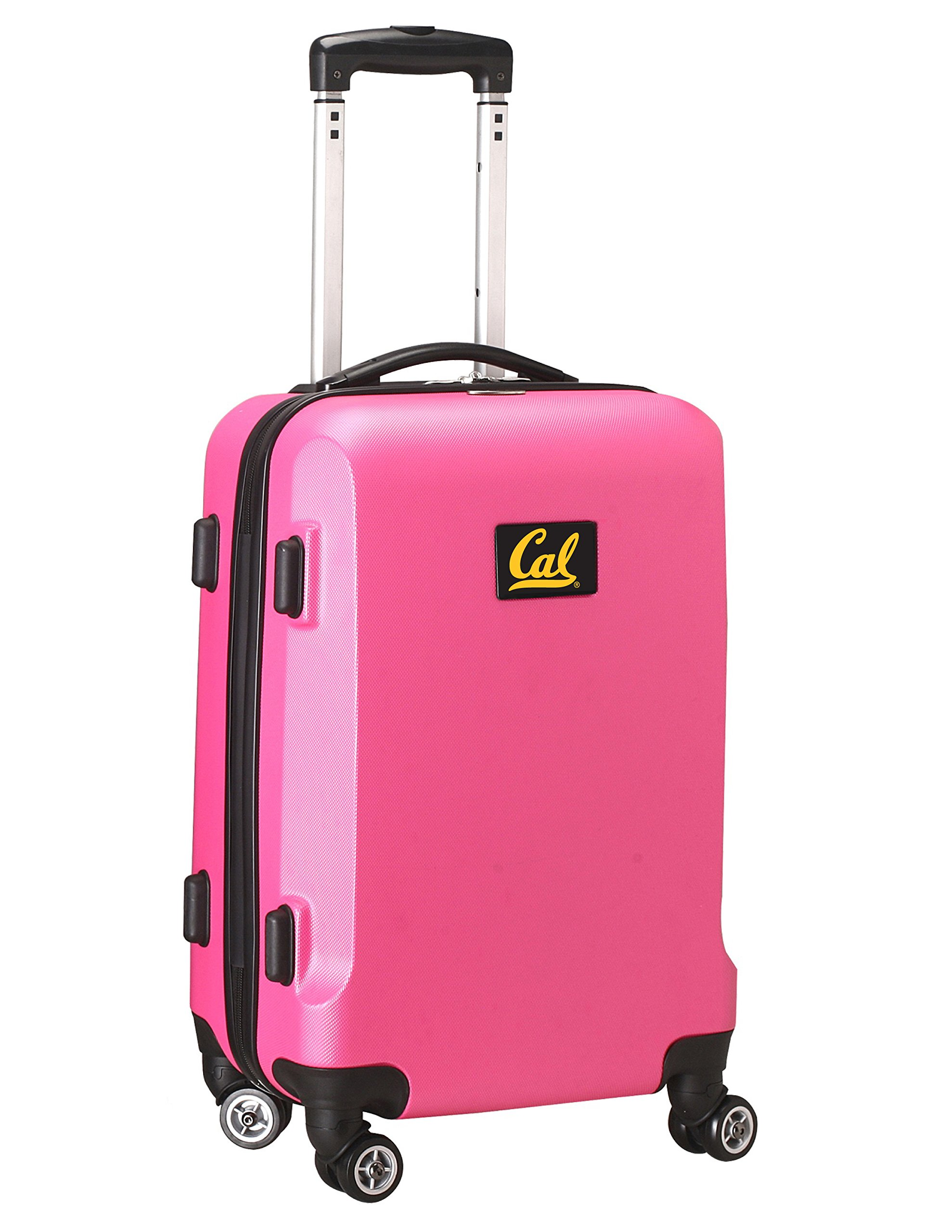 Denco NCAA California Golden Bears Carry-On Hardcase Luggage Spinner, Pink