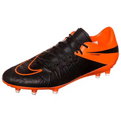 newest 27d5e 4777b Image Unavailable. Image not available for. Color  Nike Hypervenom Phinish  Leather FG Soccer Cleat (Black, Total Orange) ...