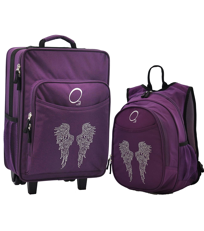 Amazon.com : Niños de equipaje y mochila con enfriador integrado, Rhinestone alas del ángel : Baby