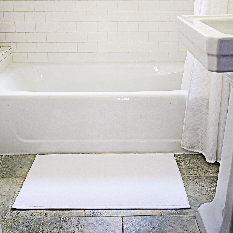 Amazon.com: Over the Floor 2 Piece Extra Thick Cotton Bathroom Mat ...