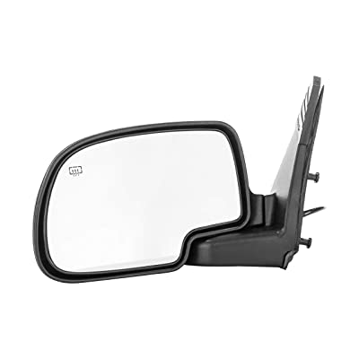 Dependable Direct Left Side Heated Power Operated Mirror for 00-05 Chevy Suburban, Tahoe, Yukon - Parts Link #: GM1320247: Automotive