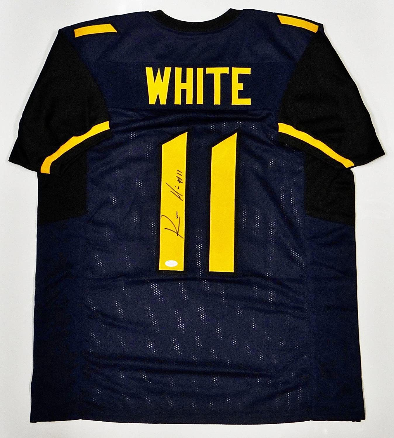 Kevin White Autographed Blue w Yellow College-Style Jersey- Auth - JSA  Certified - Autographed College Jerseys at Amazon s Sports Collectibles  Store db9f06e1d
