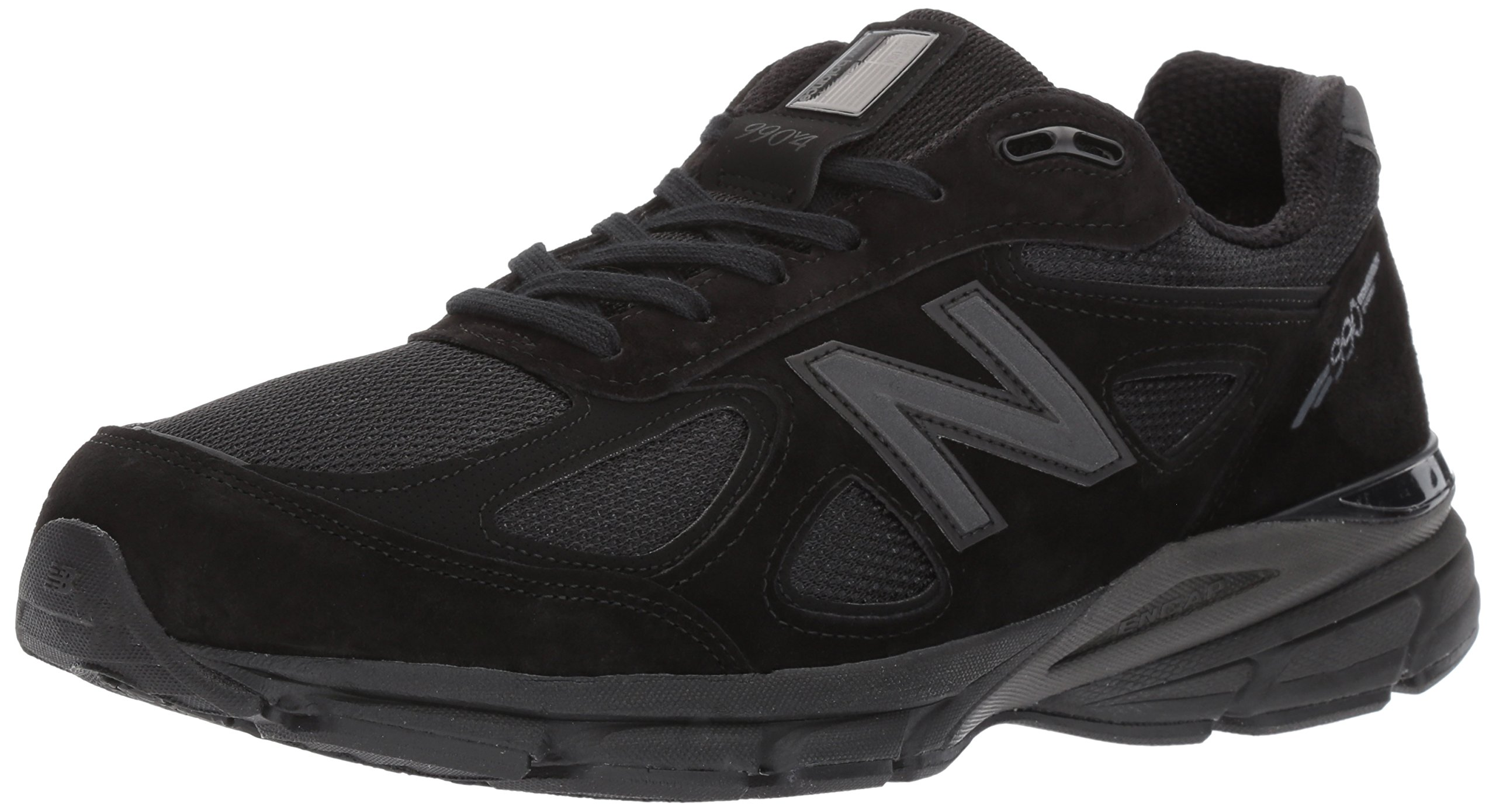 New Balance Men's 990V4 Running Shoe, Black/Black, 11 2E US