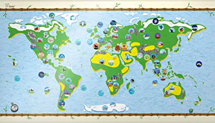 Amazon bucket list world map kids affordable gift bucket list world map kids affordable gift rewritable edition best interactive fun and learning gumiabroncs Image collections