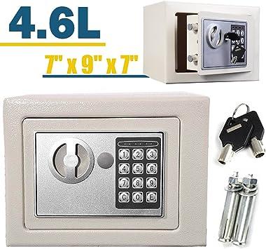 Caja Fuerte 23 x 17 x 17 cm de Acero sólido electrónico Digital Caja de Seguridad