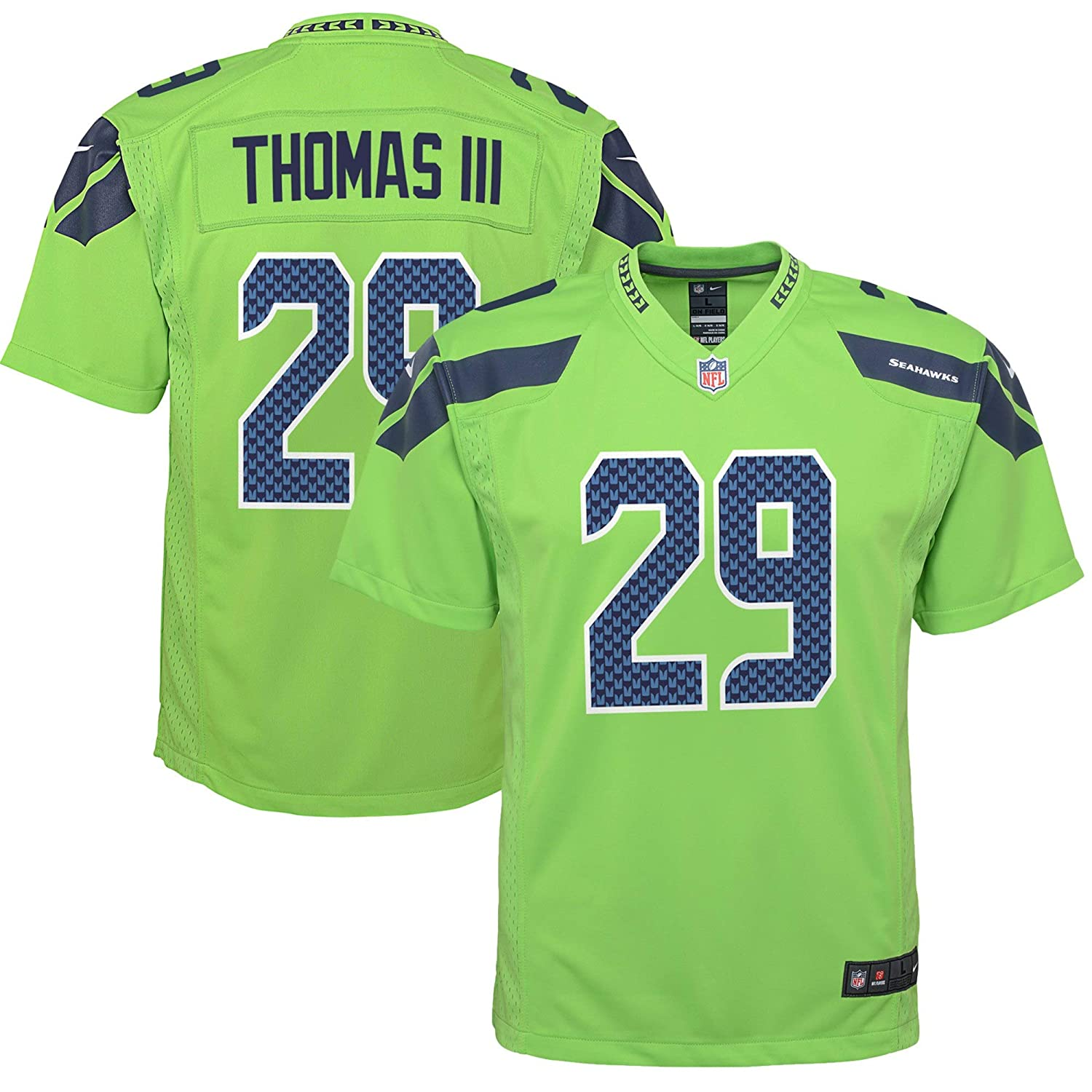 finest selection 3fcfc ae4b6 Nike Earl Thomas III Seattle Seahawks NFL Youth 8-20 Green Color Rush  On-Field Player Jersey