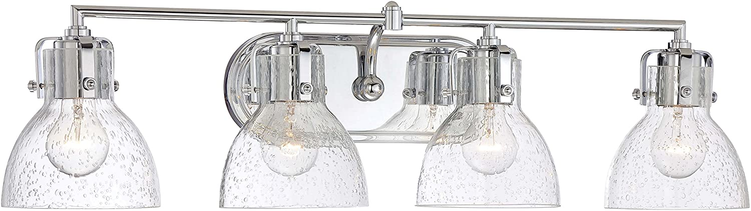 Sorren Modern Wall Light Polished Nickel Hardwired 20 1 2 Wide 3-Light Fixture Curving Clear Glass for Bathroom Vanity Mirror – Possini Euro Design