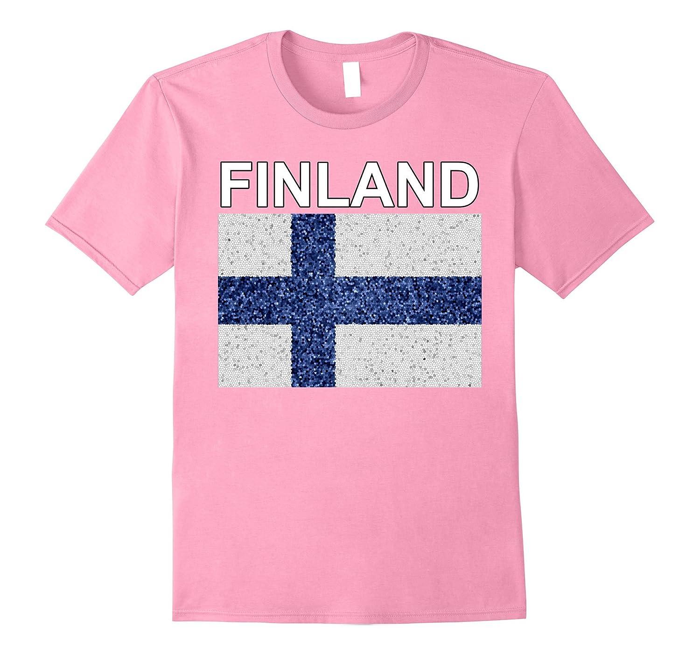 Finland Tee - Artistic Heritage Finnish Flag T-shirt-Vaci