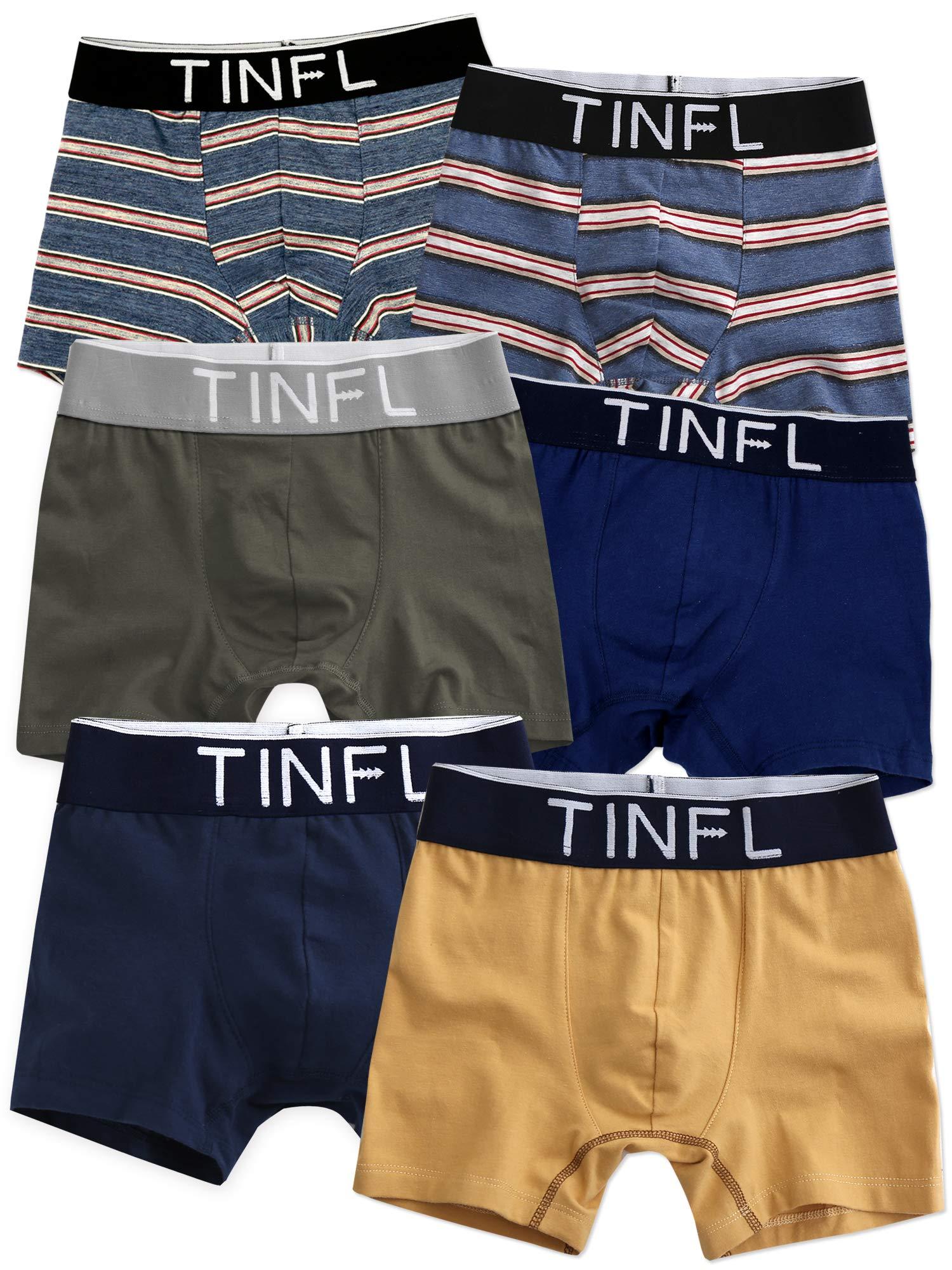 TINFL Big Boys Boxer Briefs 6-Pack Underwear Set TD-011 M