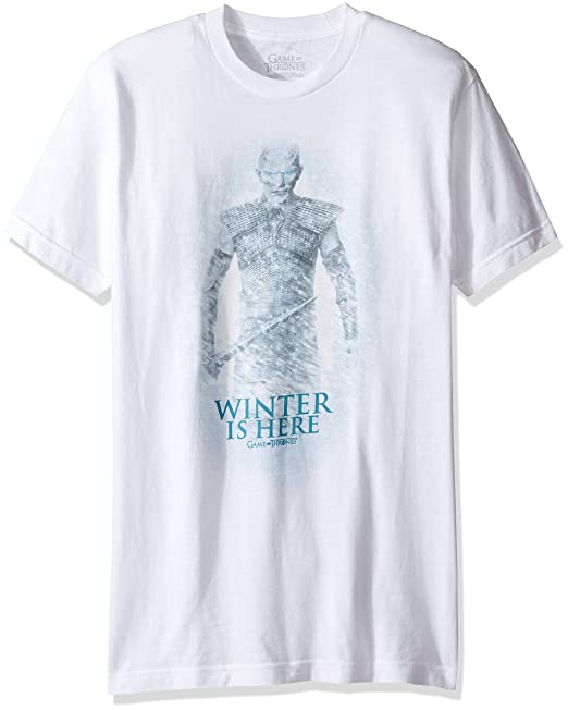 1f7618f65202 Amazon.com: HBO Game Of Thrones Men's Night King Winter is Here T-Shirt:  Clothing