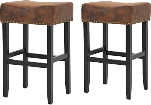 Christopher Knight Home Lisette Fabric Barstools, 2-Pcs Set, Brown