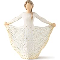 Willow Tree Butterfly Figurine, Resin, Cream, 65 x 145 x 165 cm