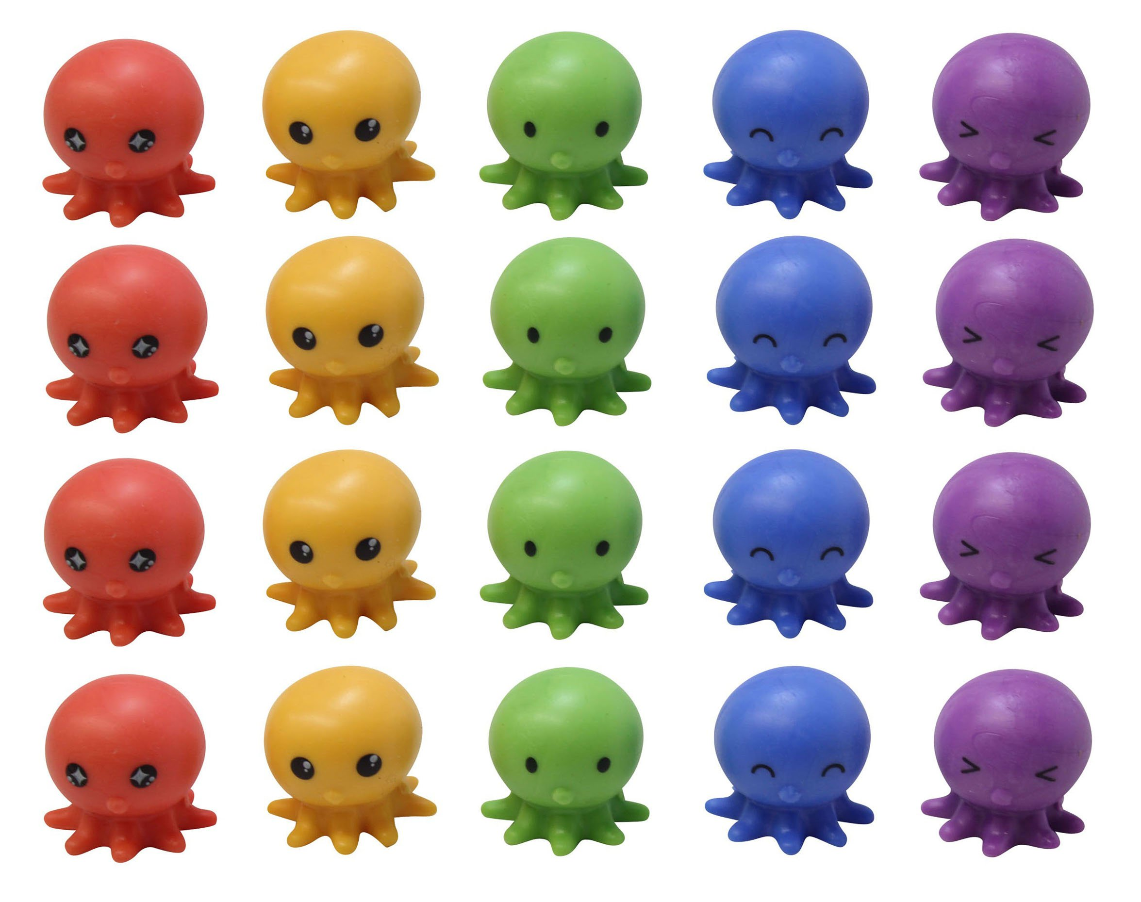 Bulk 20 Squishy Octopus Pencil Toppers - Office Teacher Supply Favors