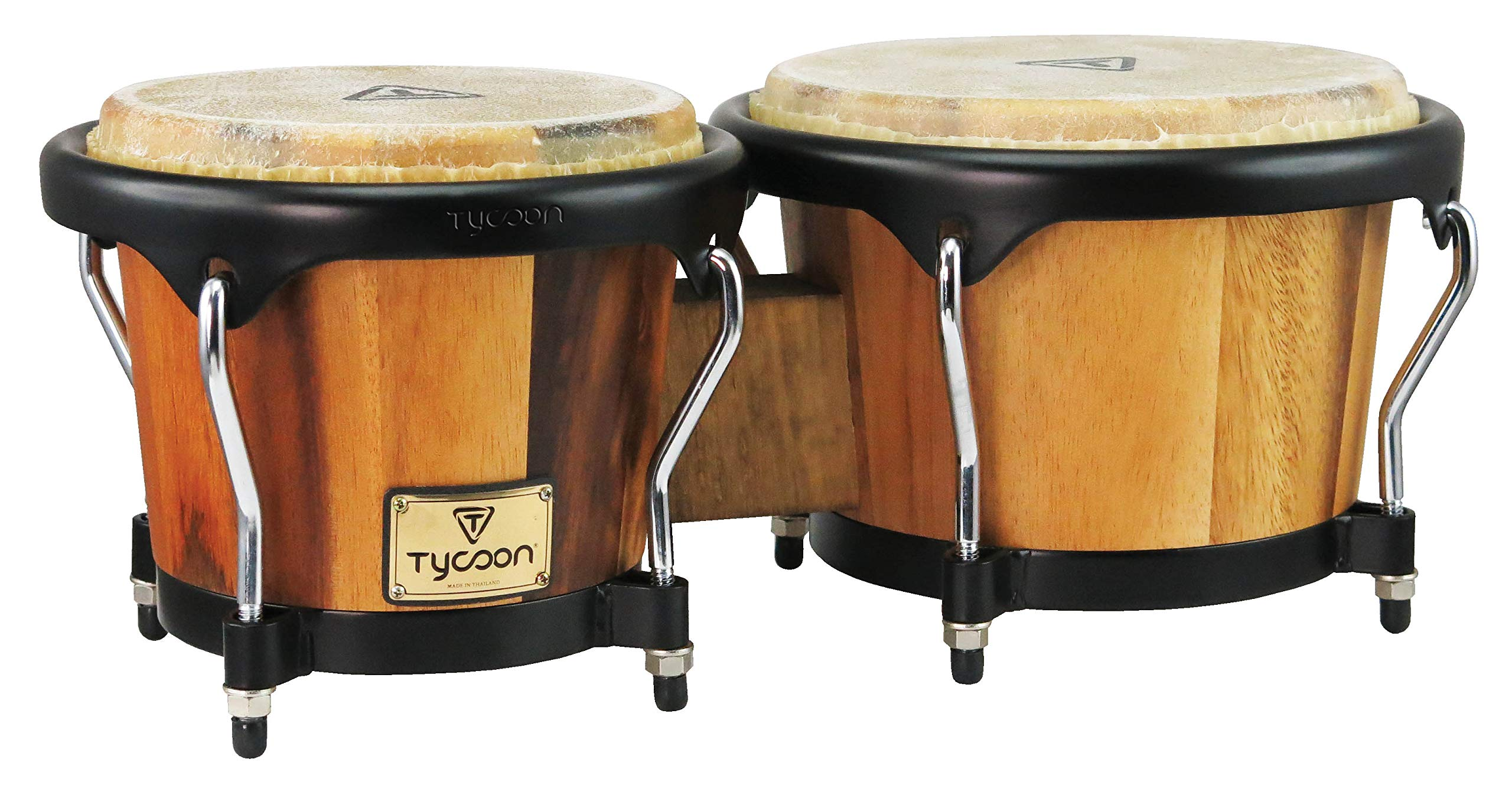 Tycoon TB-80 B JM Bongo Drum, Brown by Tycoon Percussion