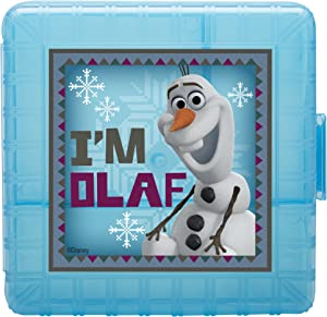 Zak! Designs GoPak Lunch Box Divided Food Storage Container with Olaf from Frozen, Break-resistant and BPA-free Plastic