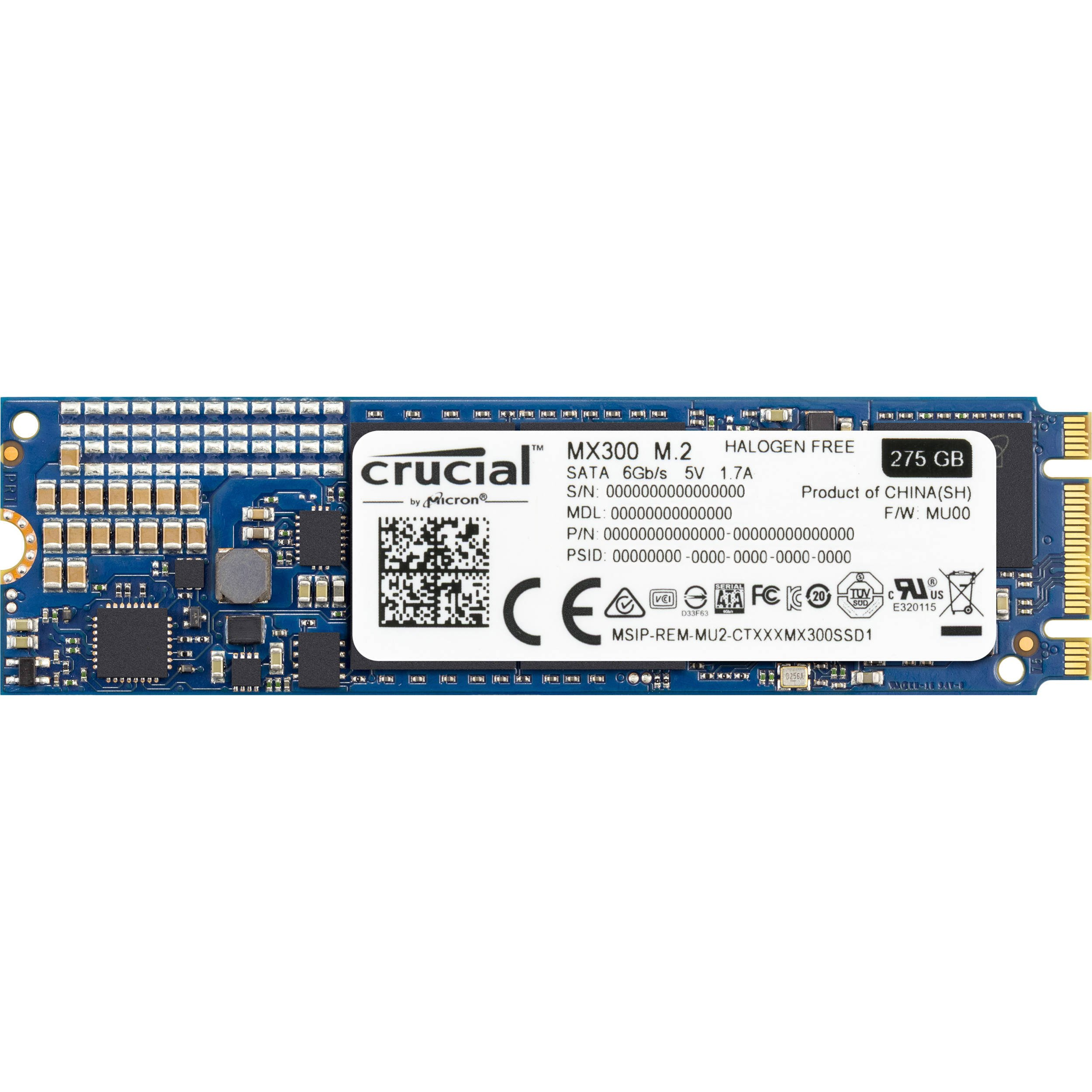 Crucial MX300 275GB M.2 (2280) Internal Solid State Drive - CT275MX300SSD4 by Crucial